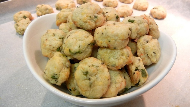 Rosemary, Chive and Cheese Biscuit Bites | Foodball/Football Foodie ...