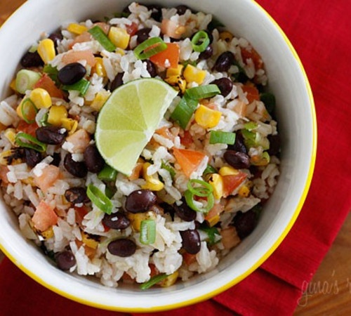 Fiesta Lime Rice by skinnytaste: Mmm! #Lime_Rice #Rice_Salad # ...