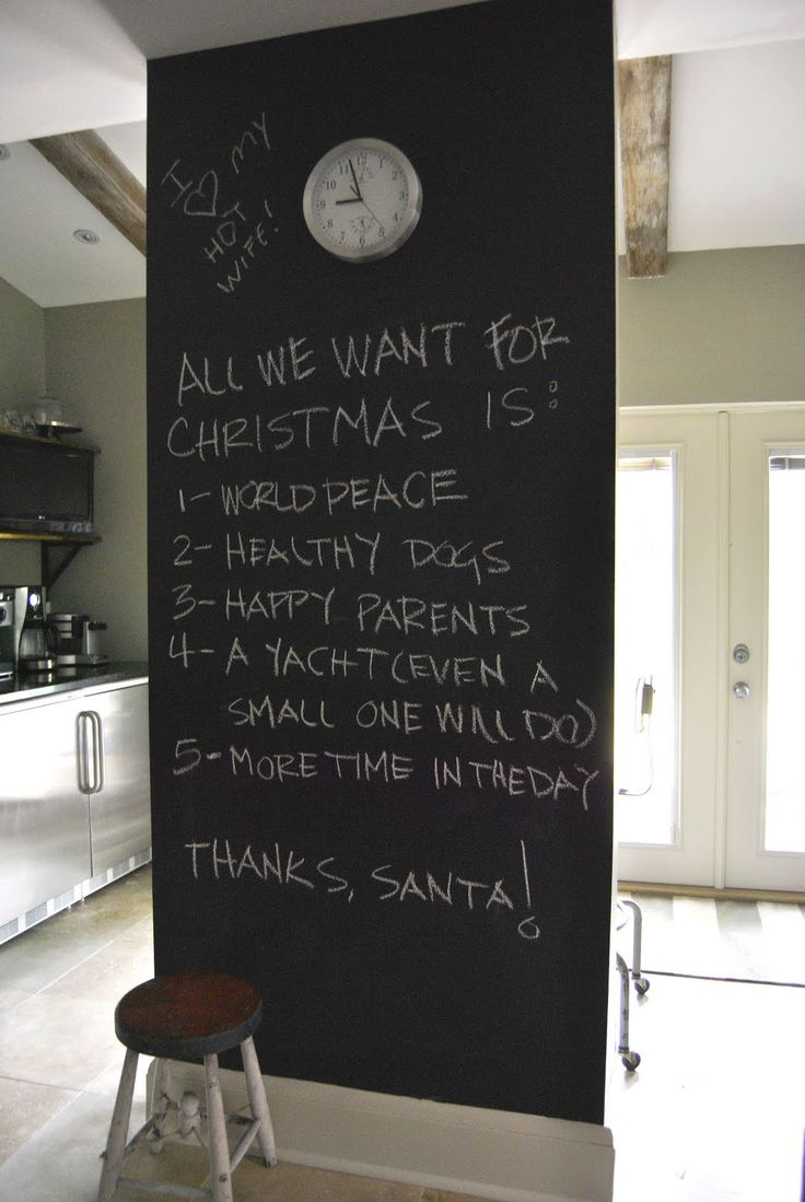 Chalkboard Wall In Kitchen Chalkboard Love Pinterest