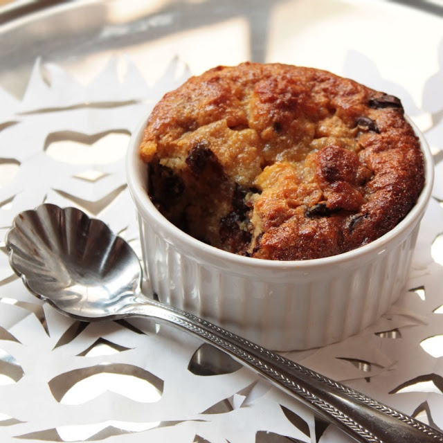 panettone eggnog chocolate chip bread pudding