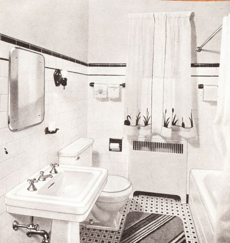 Mid century scrapbook bathrooms 1940 39 s bathrooms pinterest for Bathroom ideas 1940