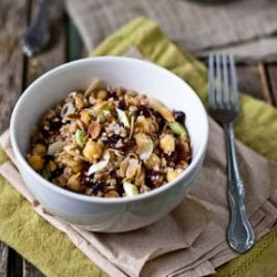 bulgur & chickpea salad with cranberries, toasted almonds, and cumin ...