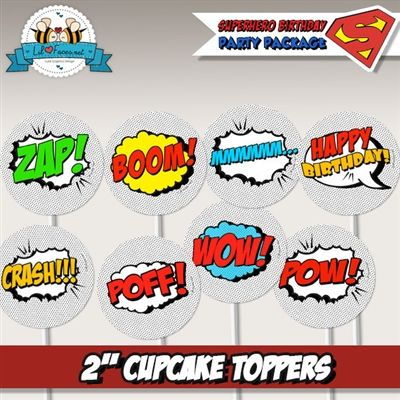 Art Party Cupcake Toppers Art Party Cupcake Toppers