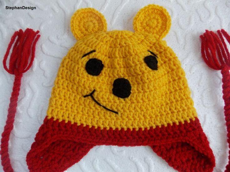 Crochet Pooh Bear Hat Pattern : Crochet Winnie the Pooh hat
