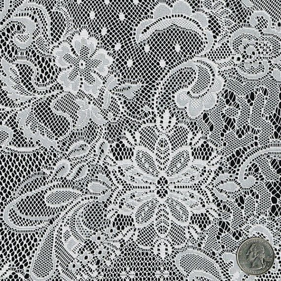 yard Curt Vintage runner Fabric Yard Table the the table Lace White by by  Off Runner,