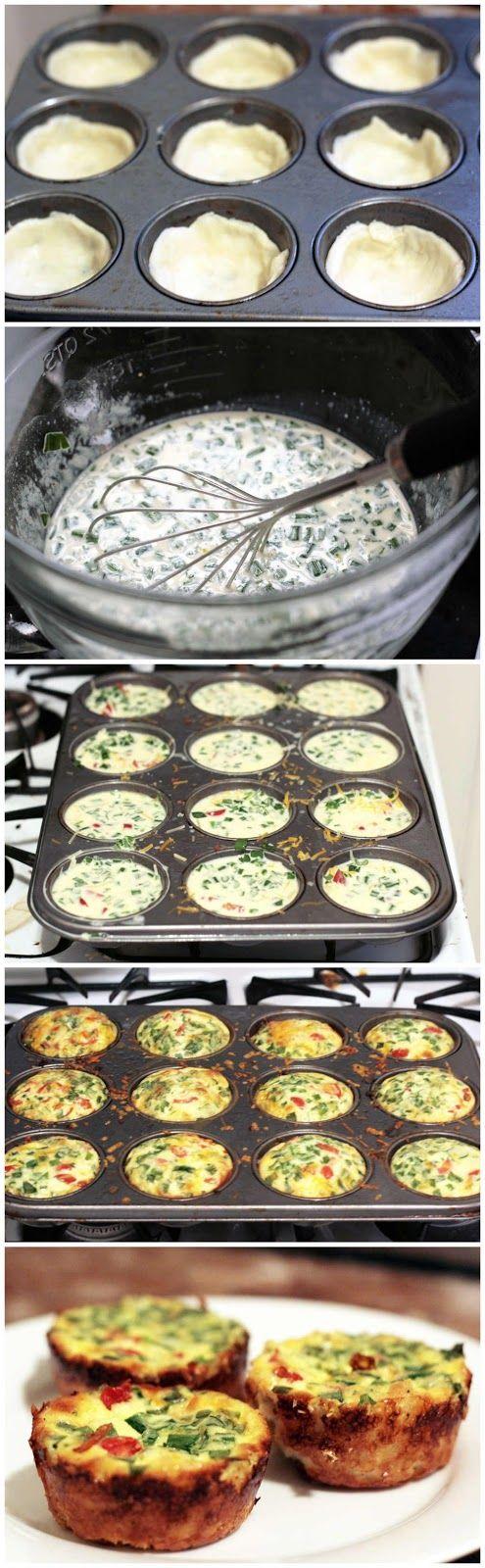 Easy Mini Quiche Recip - kiss recipe   Yummy!   Pinterest