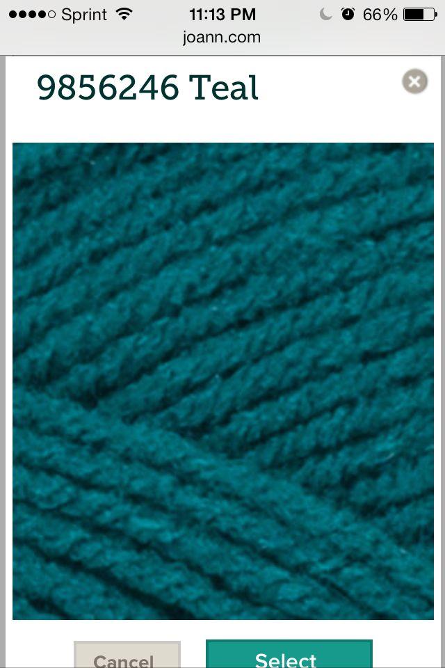 Red Heart_Teal | Crochet_Yarn Colors | Pinterest