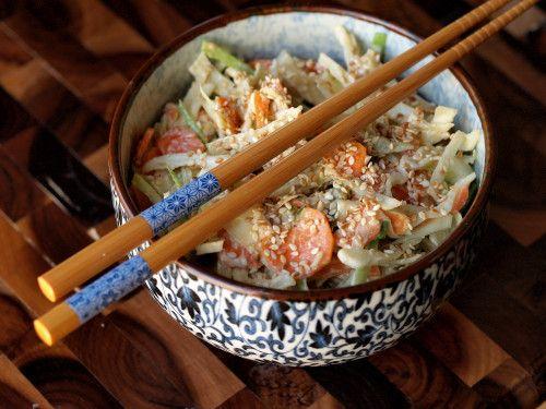 Cabbage Slaw with Miso-Sesame Dressing | vegetables / sides | Pintere ...