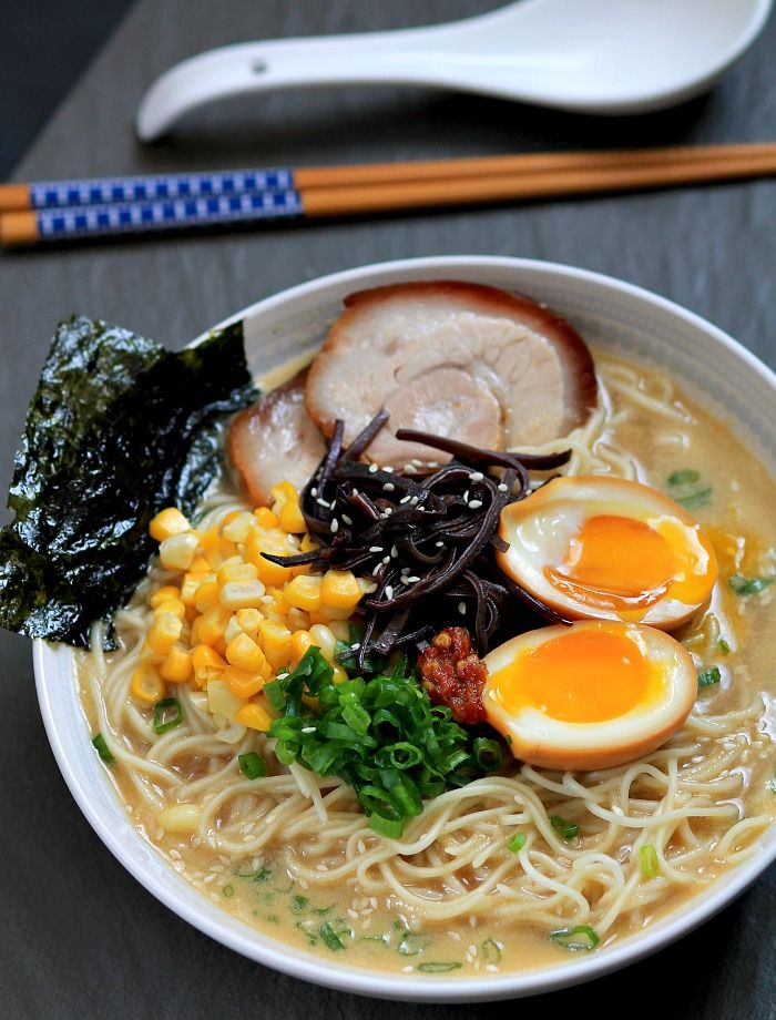 Tonkotsu ramen with chashu ( Japanese braised pork belly ) and ...