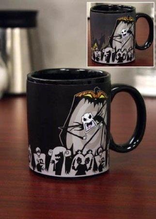 Amazon.com: Nightmare Before Christmas SCARY JACK Color Changing Mug ...
