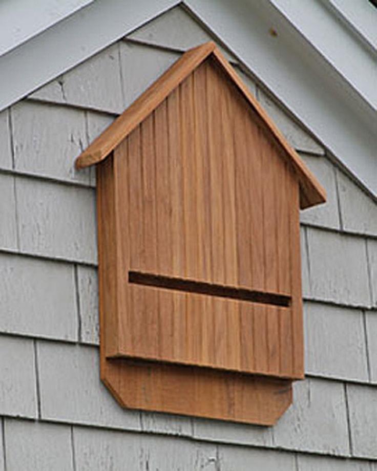 Teak bat house for Bat condo