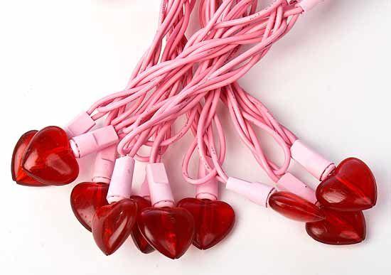 valentine hearts lights