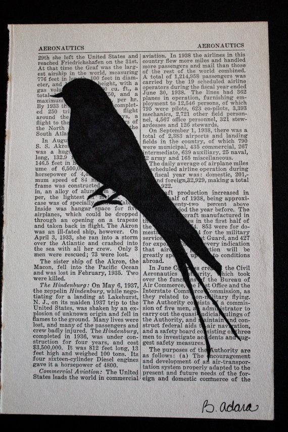 Bird art DIY.