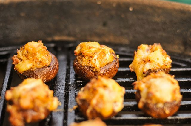 Grilled Crab and Fontina Stuffed Mushrooms