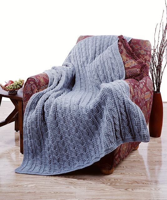 Free Crochet Cable Stitch Afghan Patterns : Pin by Trish W on Crochet II ~ Afghans, Blankets, Throws ...