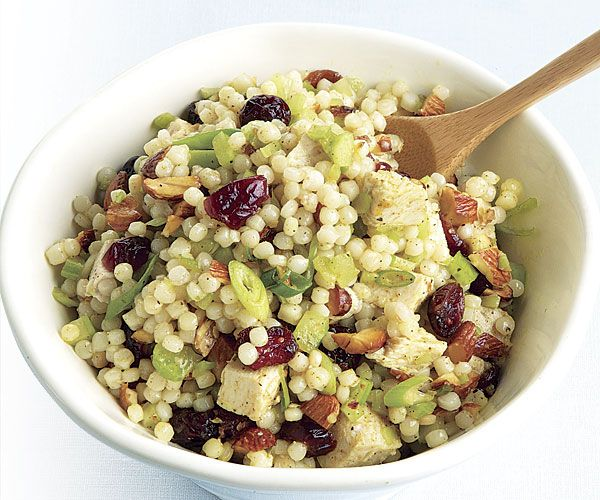 Curried Turkey and Israeli Couscous Salad with Dried Cranberries | Re ...