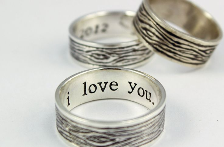 tree bark sterling silver rustic s ring mens promise