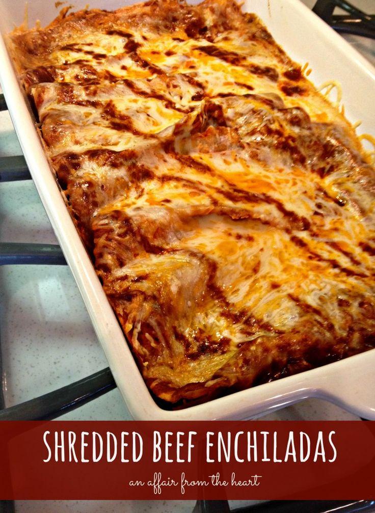 shredded beef enchiladas - An Affair from the Heart Homemade Shredded ...