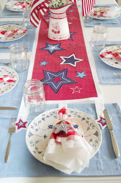 table decorations 4th of july