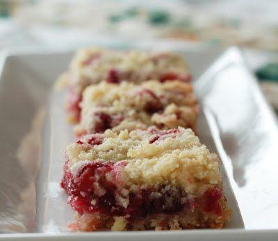Twelve Days of Christmas Cookies, Day Nine, Cranberry Crumb Bars