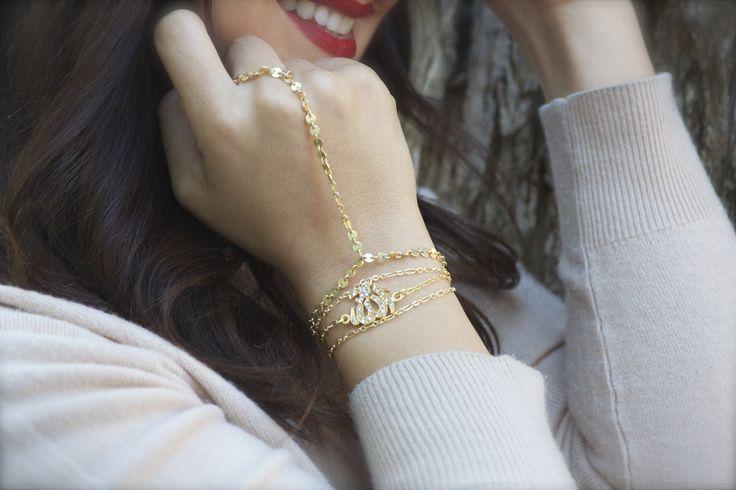 Modern and delicate Allah bracelet- best gift ever