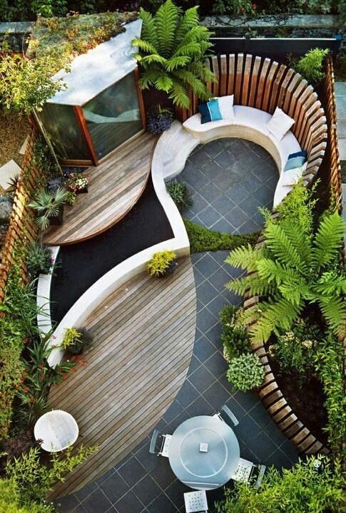 Como decorar un jard n peque o terraza y jard n pinterest for Como disenar un jardin pequeno