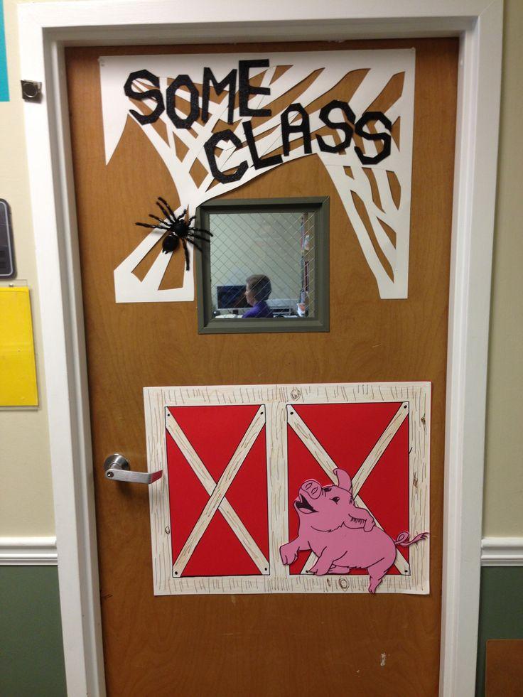 Classroom Decor Websites ~ Charlotte s web classroom door bulletin boards and