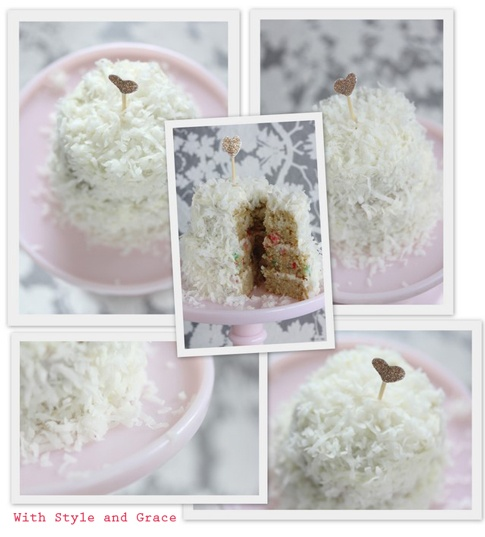 Mini Gluten Free Coconut Layer Cake | gluten free for me | Pinterest