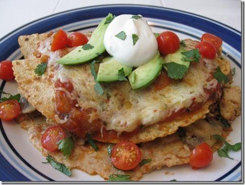 Creamy Chicken, Spinach & Mushroom Enchiladas