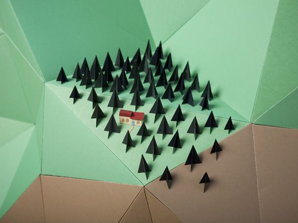 Fedrigoni Mountains by Hattie Newman, via Behance