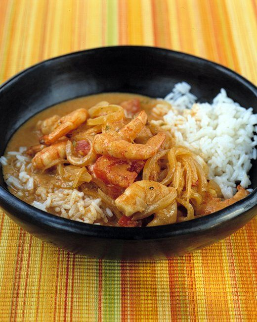 Curried Shrimp- Serve this brothy dish in shallow bowls over steamed ...