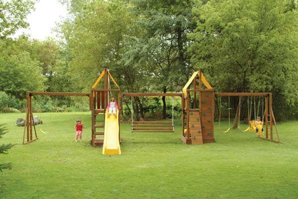 Unique Backyard Playsets : Unique wooden swing sets  Hometone  outdoor  Pinterest