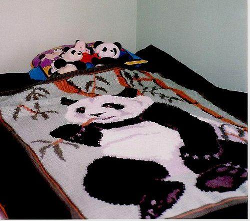 Free Crochet Panda Afghan Patterns : Graph Crochet Panda Afghan Crochet Pinterest