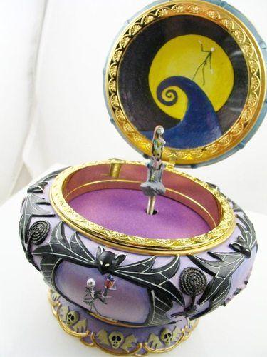 ... Nightmare Before Christmas Music Jewelry Box Tim Burton's New in Box