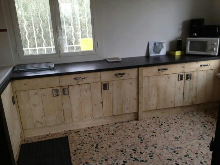 Cabinets made from pallets for the home pinterest for Pallet kitchen cupboards
