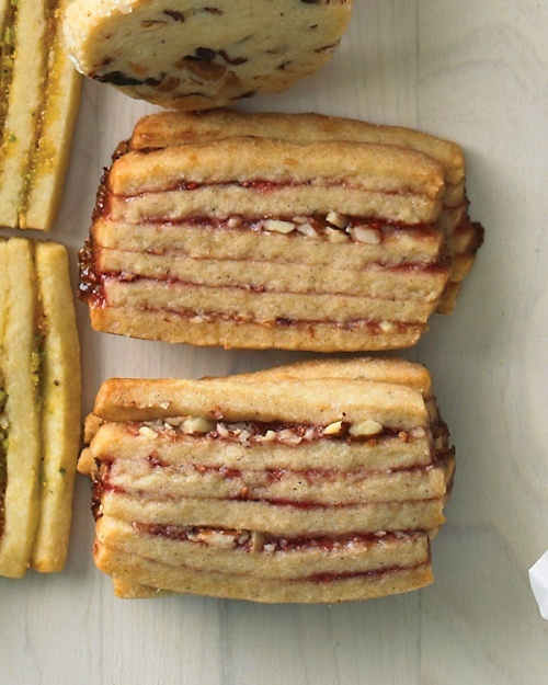 Raspberry-Almond Layered Icebox Cookies - Martha Stewart Recipes