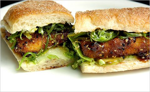 The Temporary Vegetarian: General Tso's Tofu Sub