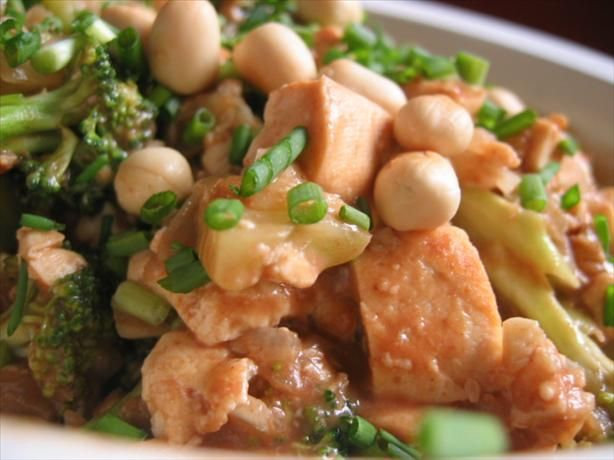 Broccoli and Tofu With Spicy Peanut Sauce from Food.com: This is a ...