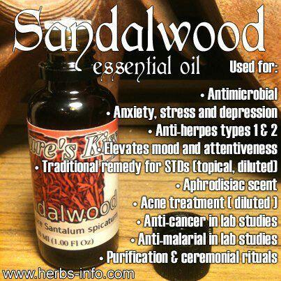 Sandalwood Essential Oil Benefits | Essential Oils | Pinterest