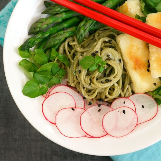 noodles soba noodles with swiss chard miso pesto miso sauce soba ...