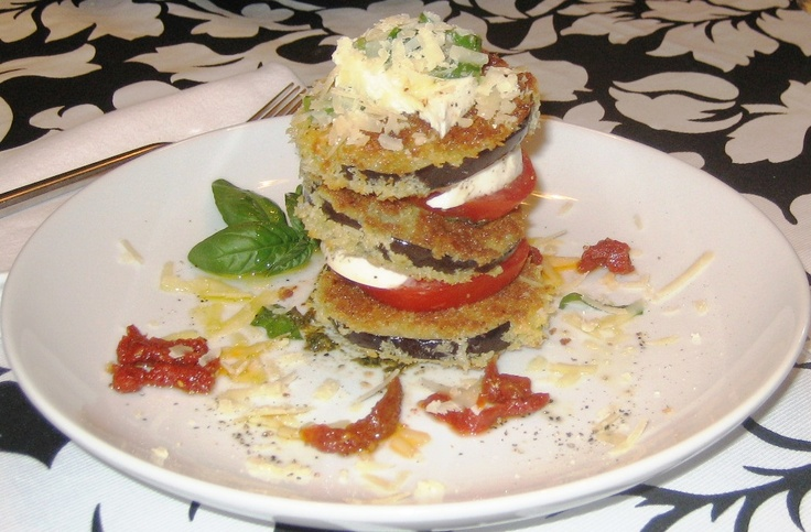 Fried Eggplant Caprese Salad. | Entertaining & Dinner Parties. | Pint ...