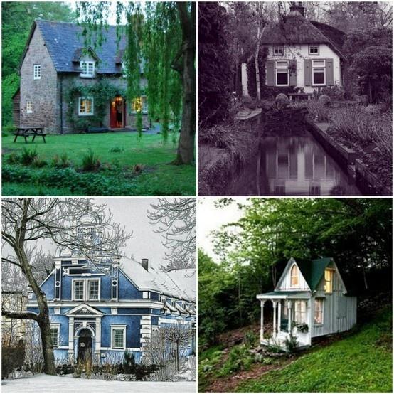 Magical Storybook Cottage Homes Fantasy Pinterest