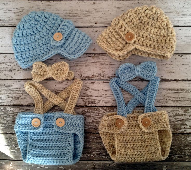 Vintage Twin Photography Prop Set in Wheat and Baby Blue ...