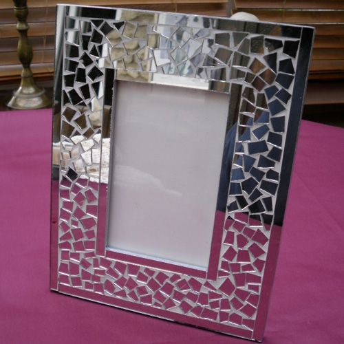 mosaics broken mirror frame ideas for my space pinterest