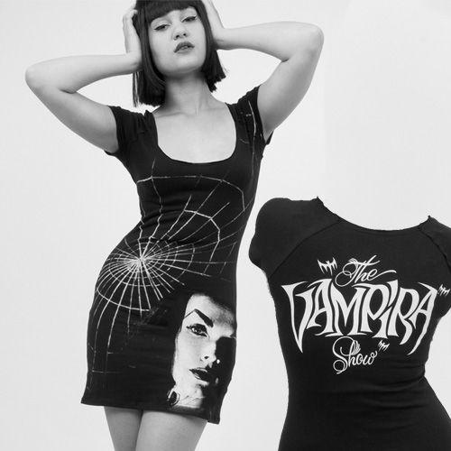 Kreepsville 666 Vampira Shadow Face Tunic Dress