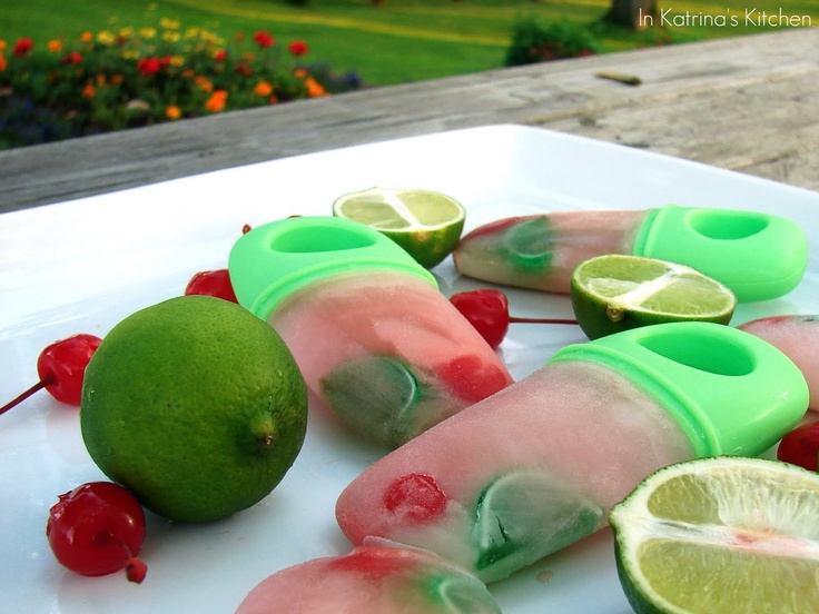 maraschino cherries limes limeaide and gummy fruits