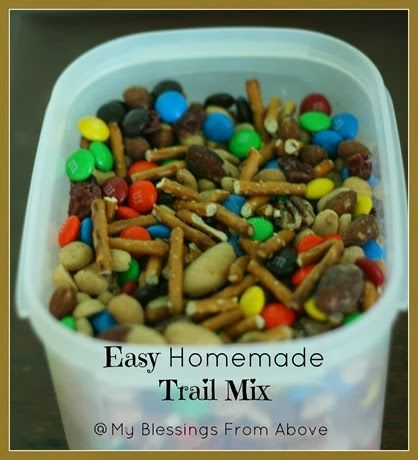 Easy Homemade Trail Mix 2 | Recipes to Try | Pinterest