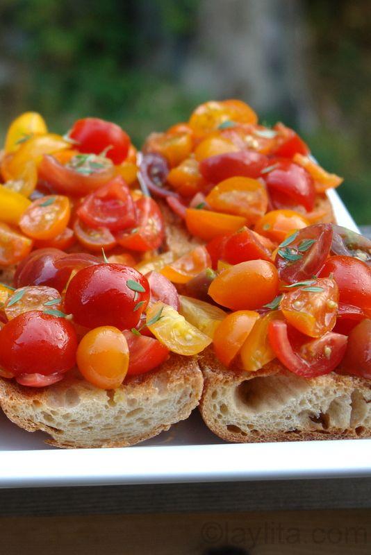 Tomato bruschetta recipe | Laylita's recipes