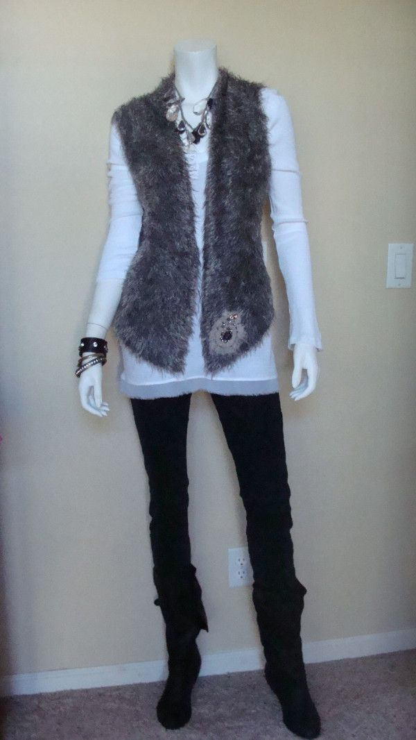 Daily Look: CAbi Fall 12 Thermal Tunic, Black Rain Jegging and Shaggy