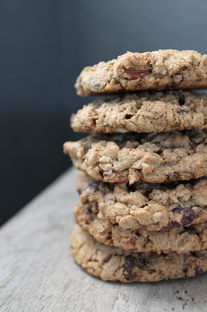 The Little Epicurean | Flourless Chocolate Pecan Oatmeal Cookies